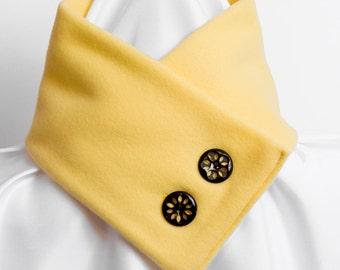 Scarf Fleece Pastel Yellow Neckwarmer
