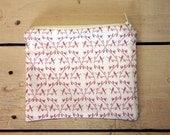 Zipper Pouch- Elegant Birds- Purse- Wallet- Hand Made