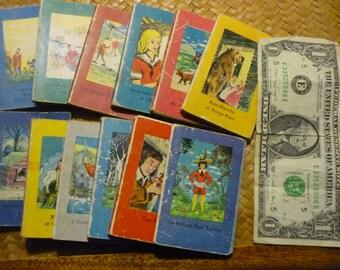 12 French mini children books