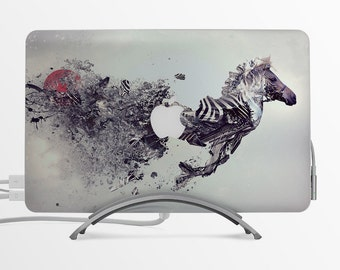 Wild horse MacBook Decal Custom Creative Sticker Apple MacBook Decal Gift with Apple logo