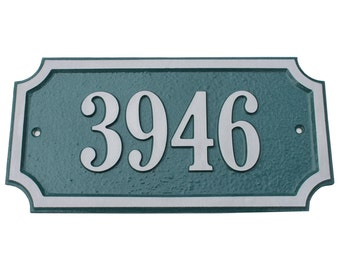 Majestic MFG Aluminum or Brass Chamford Address Plaques House Numbers ** Made in the USA ** ** Free Shipping**