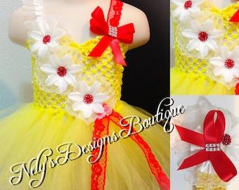 Yellow Daisy Flowers Tutu Dress