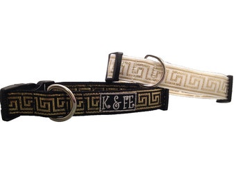 Egyptian Metallic Gold Buckle Dog Collar