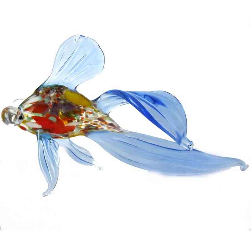Glass fish hand blown collectible figurine code 172 for Blown glass fish
