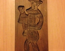 Wooden Chocolate Cookie Candy Mold Ventriloquist
