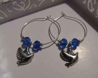 Dove Blue Hoops