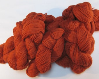 Tapestry Wool,  Darker Rust Orange, 4-ply, 125+ yds each skein