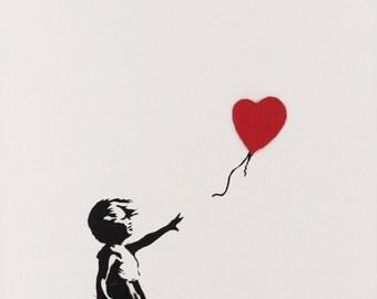 Banksy Girl with a Ballon Poster Print