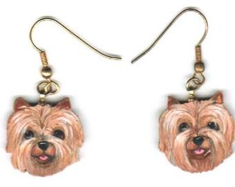 Cairn Terrier Portrait Earrings