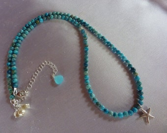 Turquoise Beach Pebbles Necklace