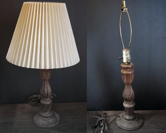vintage hand carved wood table lamp fluted by cdnvintagepickers. Black Bedroom Furniture Sets. Home Design Ideas