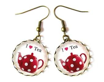I Love Tea earrings