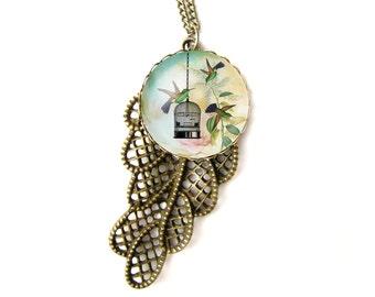 Hummingbirds necklace