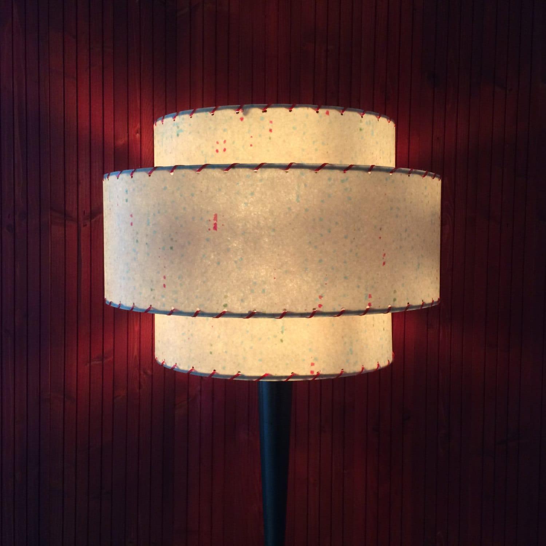 mid century modern style fiberglass lamp shade 3t 24 0. Black Bedroom Furniture Sets. Home Design Ideas
