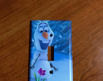 Frozen, Olaf,  light switch plate, Olaf light switch cover, home decor, kids room, family room, Disneys Olaf, girls room, boys room, decor.