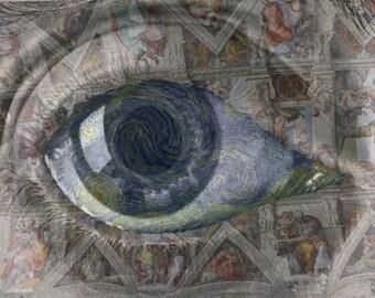 """Eye Level. Digital Art. 15""""x10.5"""""""