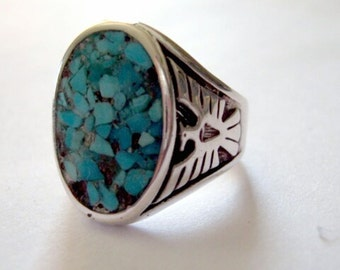 Thunderbird inlay ring