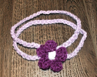 Baby two strap flower headband