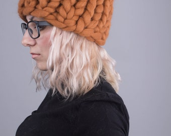 Chunky hat, merino wool, womens hats, slouchy beanie, knitted.