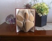 Gift for him for her - Folded book - Sculpture - Birthday present - Recycling