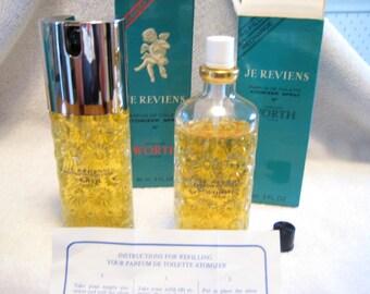 Je Reviens Worth Atomizer 2 fl oz with refill 2 fl oz / parfum de toilette/Vintage