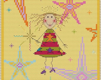 StarElla Fairy Cross Stitch Kit