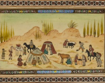 Middle Eastern Painting on Ivory