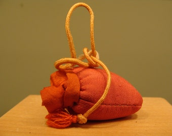 Vintage Red Emery Sack for Sharpening Pins and Needles