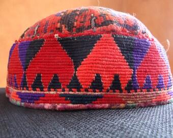Vintage Tribal Woven Skull Cap
