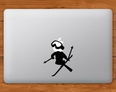 Skier MacBook Decal Laptop Sticker