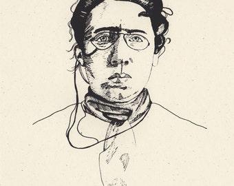 Emma Goldman Feminist Portrait Screenprint