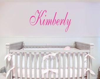 Custom Name Removable Wall Decal Any Color