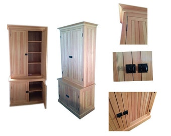 Award Winning Handcrafted Hutch Cabinet