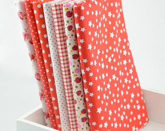 Fat Quarter Bundle - thin - ASSORTED RED collection - 7 fat quarters
