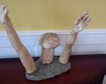 Hope - A Unique and Inspiring Stone and Wood sculpture