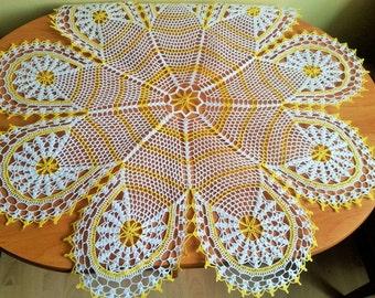 Handmade Crochet Tablecloth, Table Decoration, Gift Idea, Wedding gift