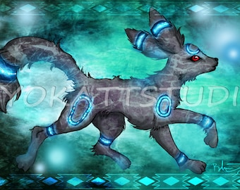 pokemon umbreon 11×17 poster