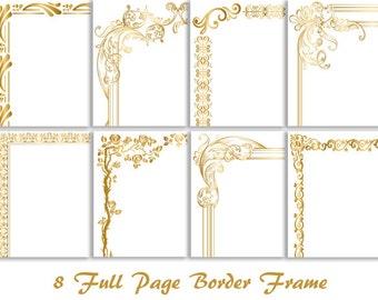 elegant gold borders clip art - photo #45