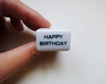 Porcelain Stamp 'Happy Birthday' .