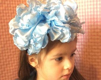 Giant whimsical flower headpiece