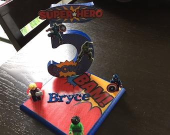 Kids Birthday Centrepiece - any age - superhero theme