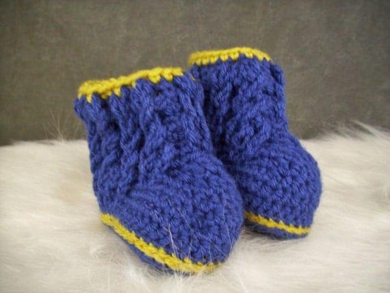Crochet Baby Booties, Crochet Baby Uggs, Blue Baby Booties, Blue Baby ...