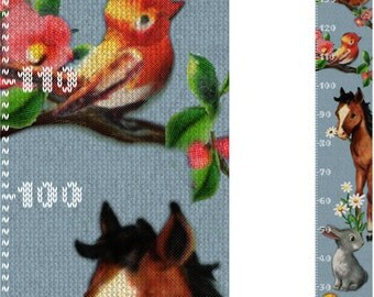 Knitted Animals self adhesive height chart