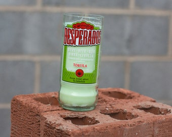 Reborn Upcycled Desperados Beer Bottle Candle