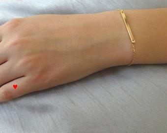 Bar bracelet,  Layering Bracelet, Bridesmaid gift, Gold Bar Bracelet, Dainty Bar Bracelet, Minimalist Bracelet, Skiny Gold Bar