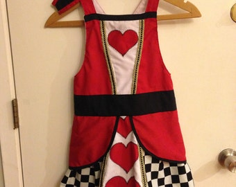 Queen of Hearts appron w/ headband