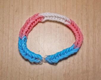 Trans Pride Flag Loom Bracelet