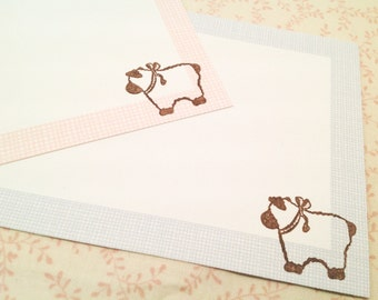 Blank Note Cards-Sheep Lamb Ewe Thank You Notes-set of 10