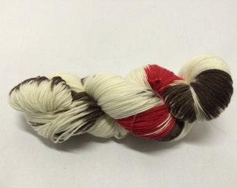 Hand Dyed Sock Yarn - Cherry Brownie Phluff