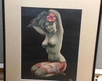 Island Girl Cross Hawaii Print